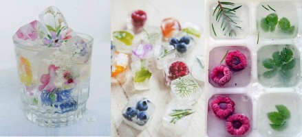 Tip: vul ijsblokjes met bloemen, kruiden of fruit