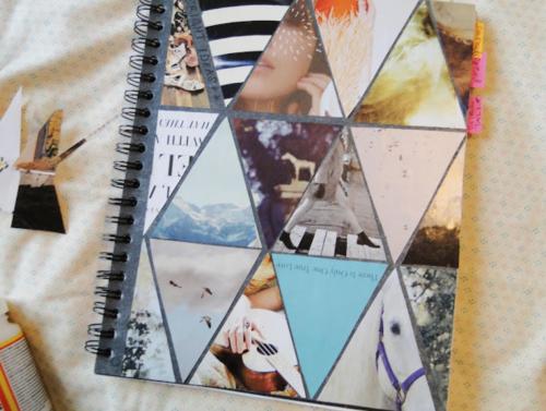notebook beplakken