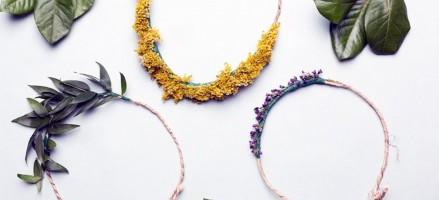 DIY: bloemen, planten of zelfs kruiden als haarband