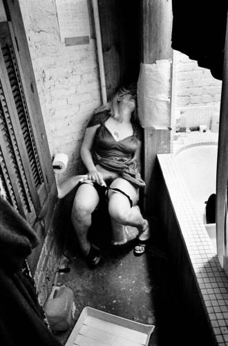 dronken vrouw