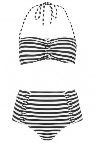 gestreepte bikini