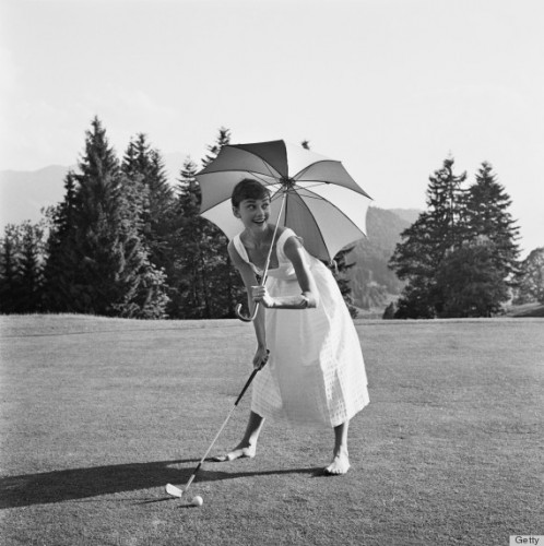 Golfing Hepburn