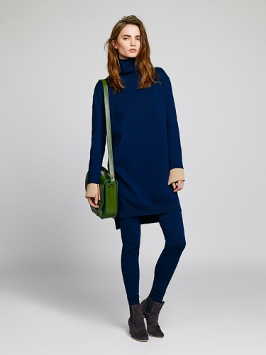 blauwe outfit