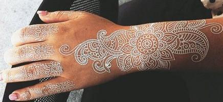 Witte henna voor op je trouwdag!