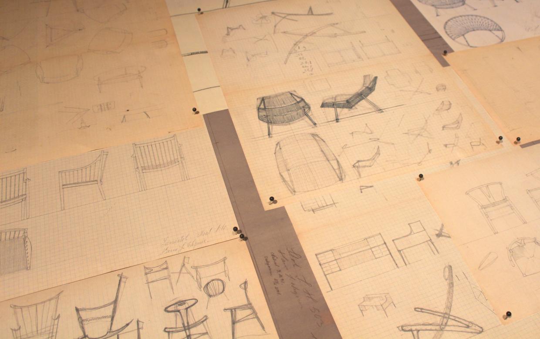 Schetsen van Hans Wegner -brinklercph.com