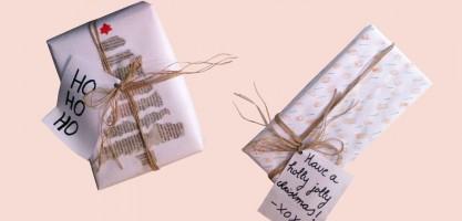 DIY: inpakpapier voor de feestdagen