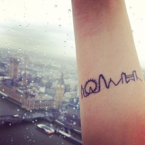 skyline tatoeage