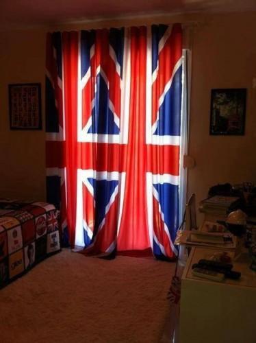 vlaggen gordijn