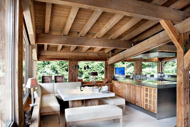 Op zoek naar een kekke wintersportstek in n van deze luxe chalets wil jij wel verblijven - Modern chalet interieur ...