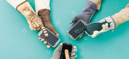 Met deze kittige handschoenen kun jij easy over je telefoon sw...