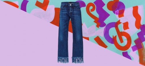 Trend: frayed jeans