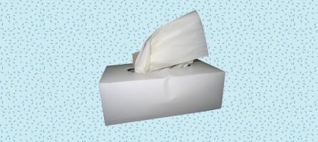 Een hevige discussie over papieren zakdoeken