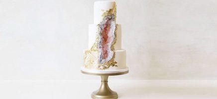 Té mooi om op te eten: de 'geode cake'