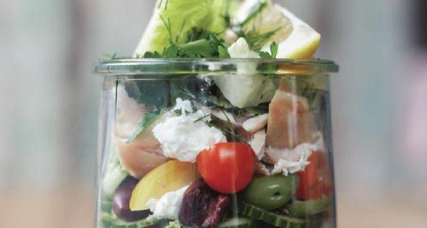 salade meenemen werk