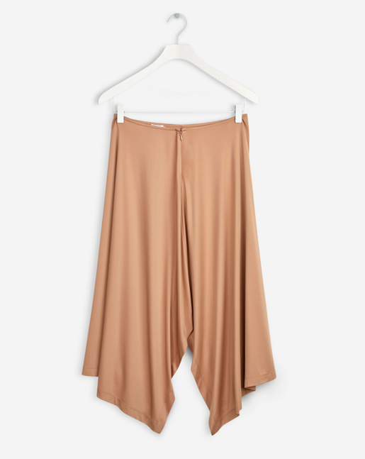 fluid drape skirt