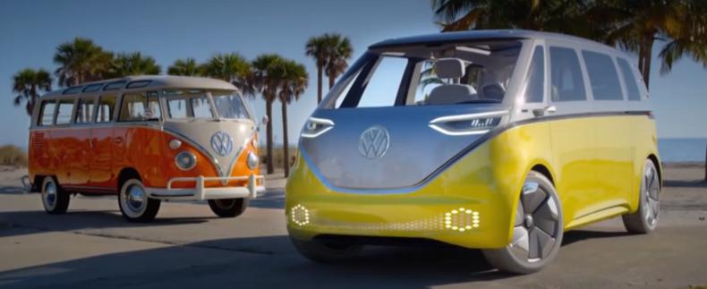 Het iconische volkswagenbusje wordt opnieuw gemaakt