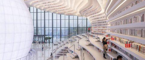 Wauw deze bibliotheek in China is echt prachtig