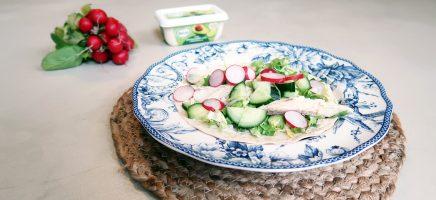 Healhty lunch: wrap met makreel en andijvie