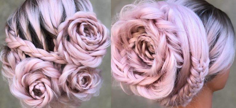 Ooit eerder gezien? Gevlochten rozen in je haar!