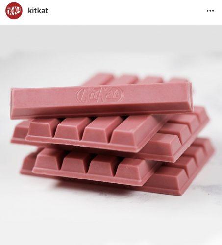 Roze Ruby chocolade KitKat Nestlé