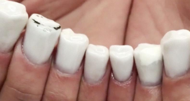 Toe aan een manicure? Misschien is deze nail art een optie