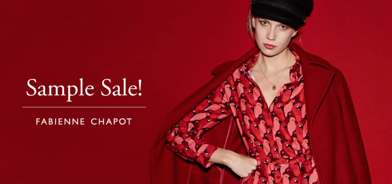 Zet 'm in je agenda: de Fabienne Chapot sample sale