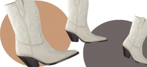 Witte laarzen zijn hot in modeland