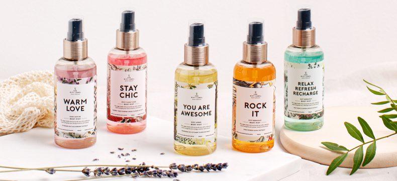 The Gift Label: vrolijke sprankelingen voor huid, haar en huis