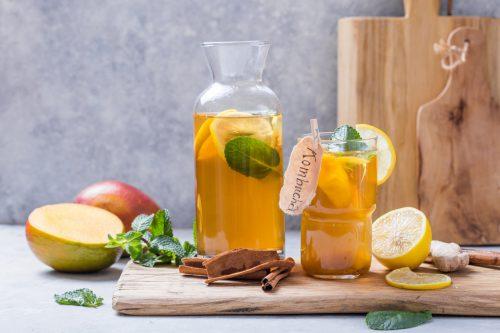 gezonde thee met kombucha